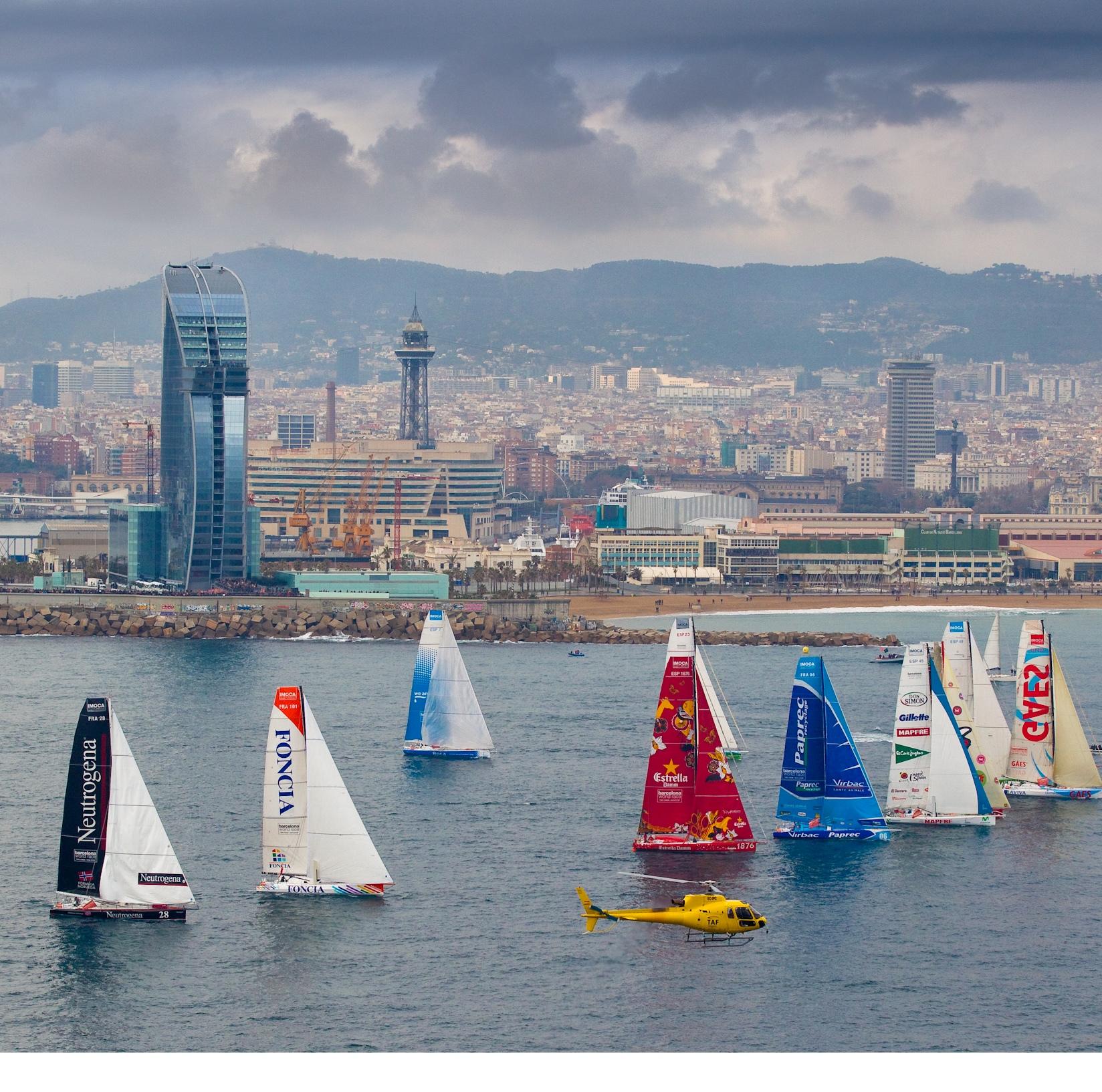 Départ Barcelona World Race ©Maria Muiña