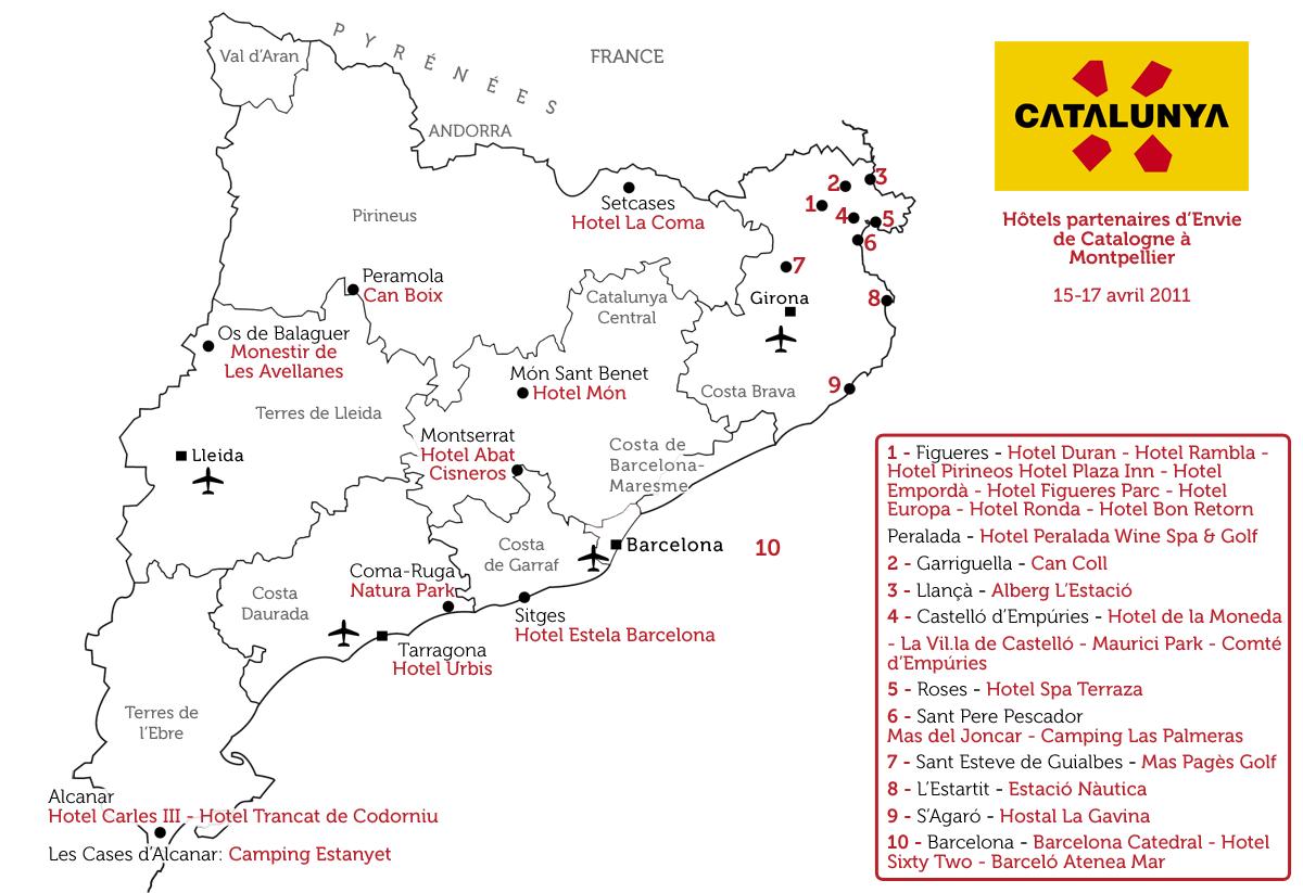 Catalogne Tourisme Carte