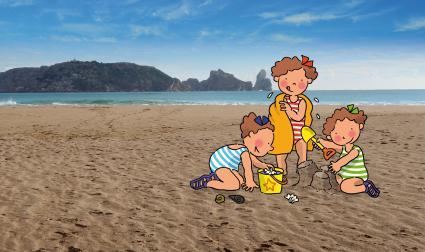 Les Triplettes, de Roser Capdevila, devant les Iles Medes (© Cromosoma, SA – TVC)
