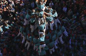 Castellers à la fête locale de Vilafrance del Penedès (Copyright : Lluís Caro - ACT)