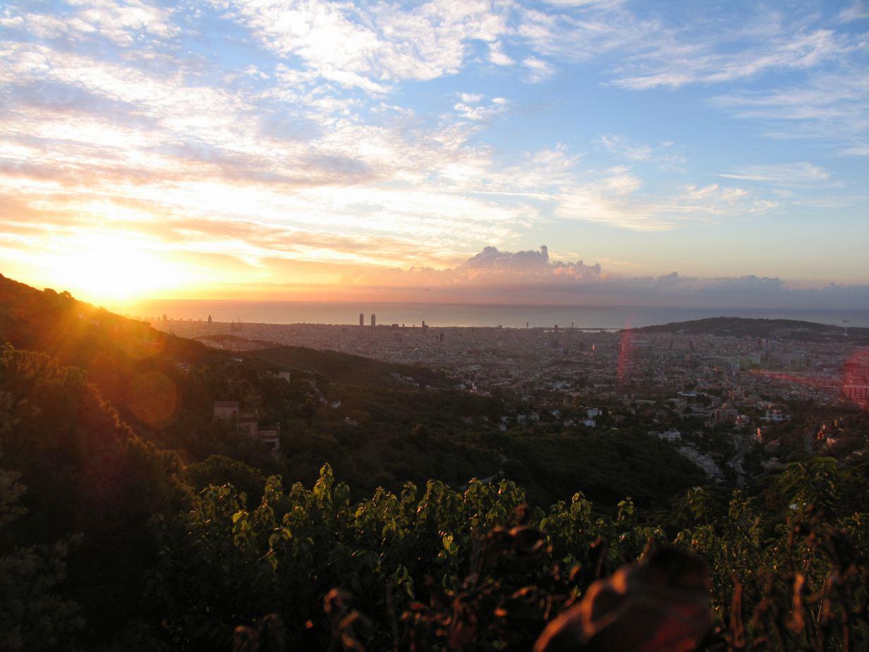 Vue sur Barcelone depuis le parc Tibidabo ©auws