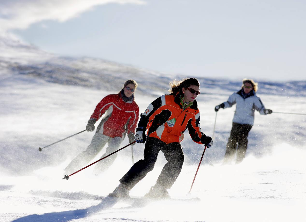 Skieurs, Val d'Aran (Copyright  Lluis Carro - ACT)
