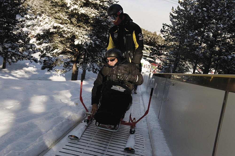 Estació d'esquí la Molina. Practicants d'esquí adaptat 2. Gemma Miralda