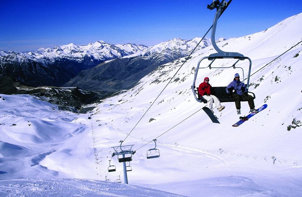 Telecadira a l'estació d'esquí de Boí-Taüll. Miguel Raurich