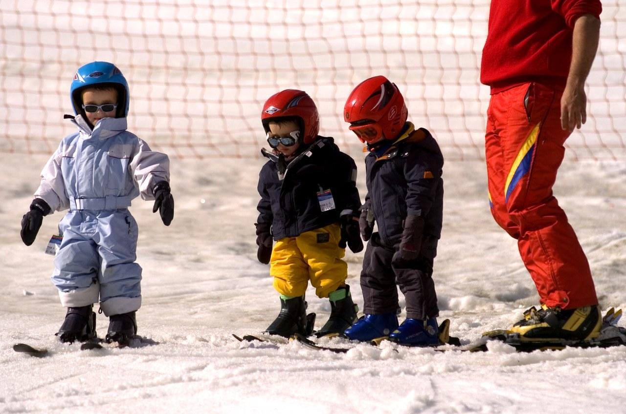 Initiation des enfants au ski