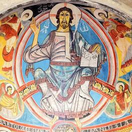 Le christ Pantocrator en gloire de Sant Climent de Taüll. © Vincent Gaudin