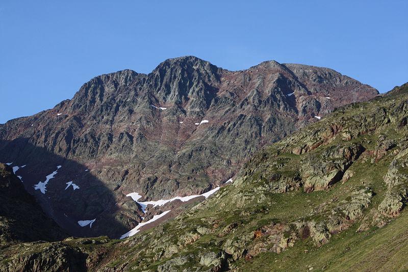 La pique d'Estats, plus haut sommet Catalan à 3143m.