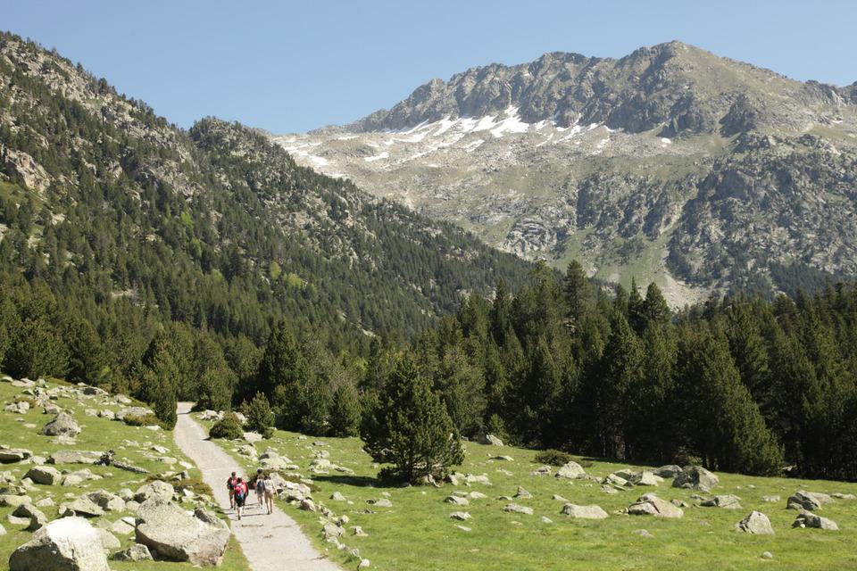 Randonneurs dans le Val d'Aran, © photo V.Gaudin