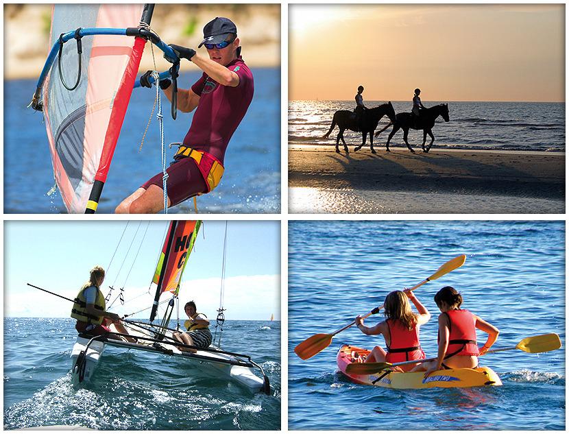 Quelques-unes des activités pratiquées dans les 6 centres nautiques de Catalogne. c http://www.encatalunya.cat