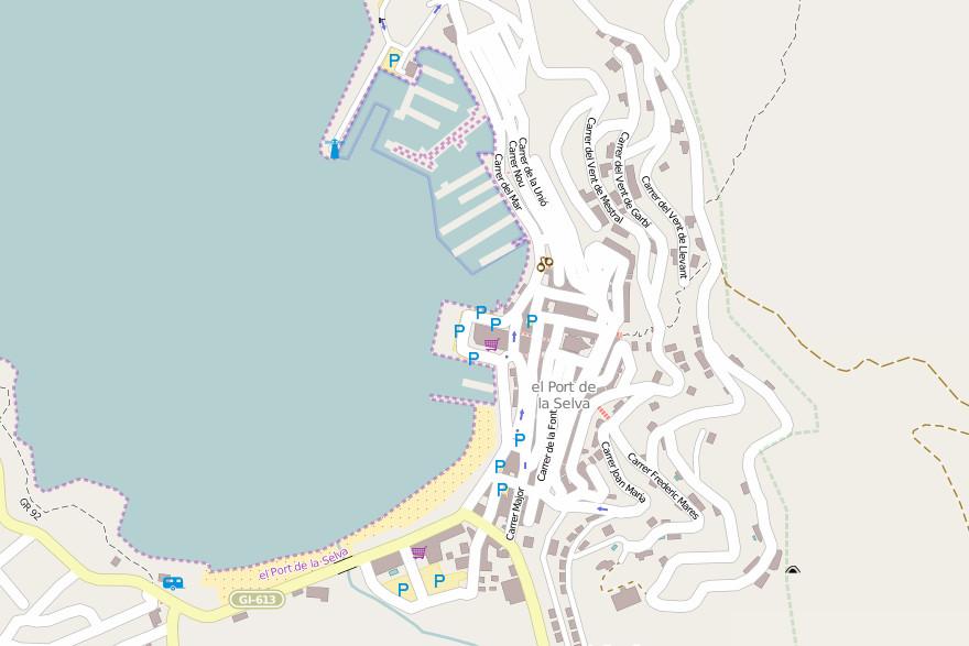 Carte El Port de la Selva - © OSM