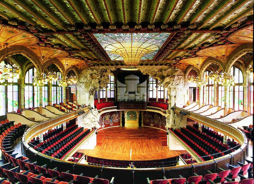 L'intérieur du palais de la musique - Image M.A.S