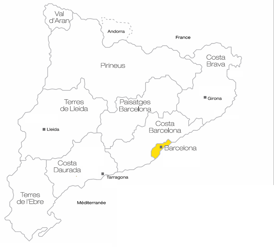 Le territoire de Barcelona recouvre la ville mais aussi ses environs proches.