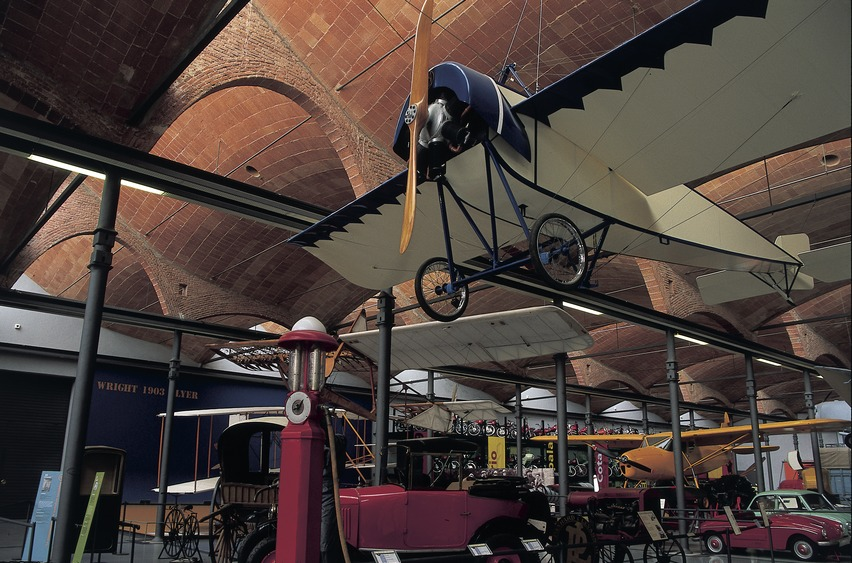 Aeroplane And Means Of Transport In The Science And Technology Museum Of Catalonia (mnactec) (copyright Turismo Verde S.l. Act)