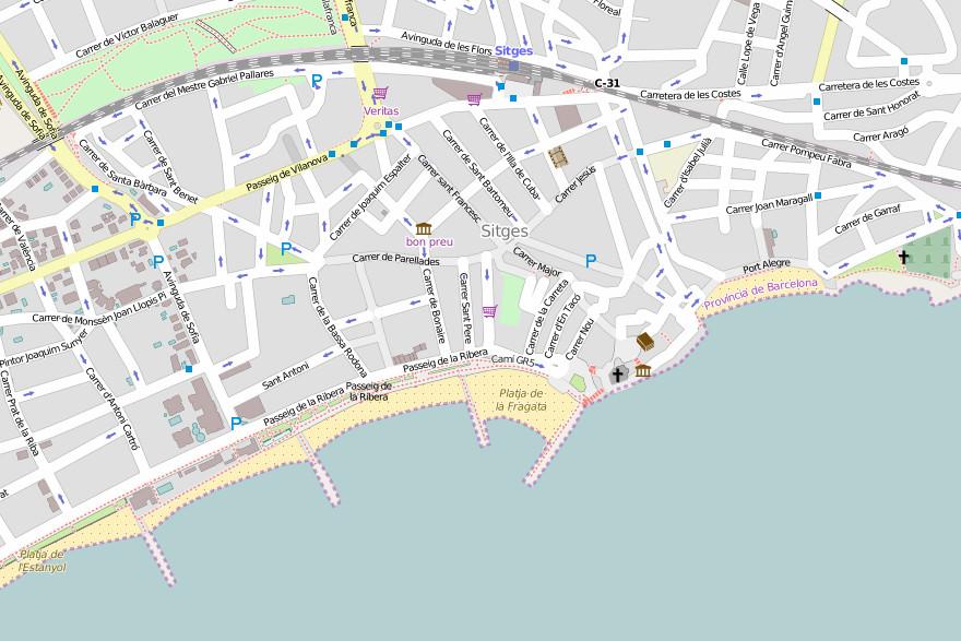 Carte de Sitges - © osm