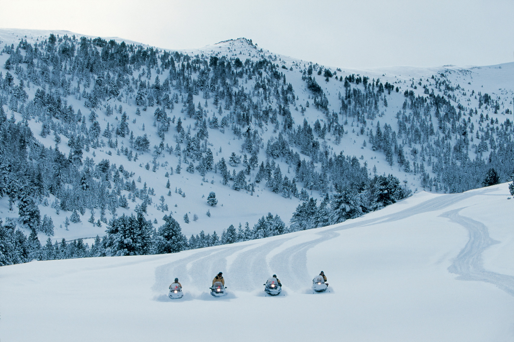 Motoneige à Espot Esquí © Daniel Julián