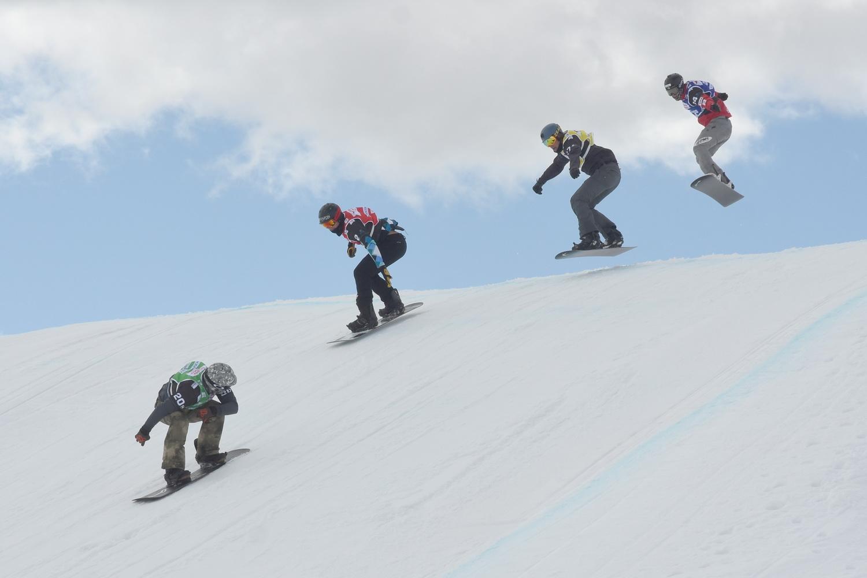 Compétition de snowboard