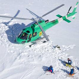 Dépose en hélicoptère au Val d'Aran