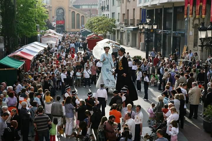Parade dans les rues de Terrassa