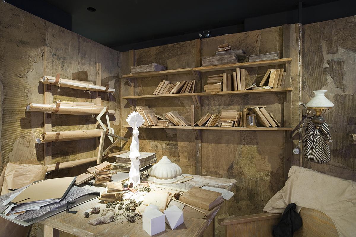 Reconstitution de l'atelier de Gaudí