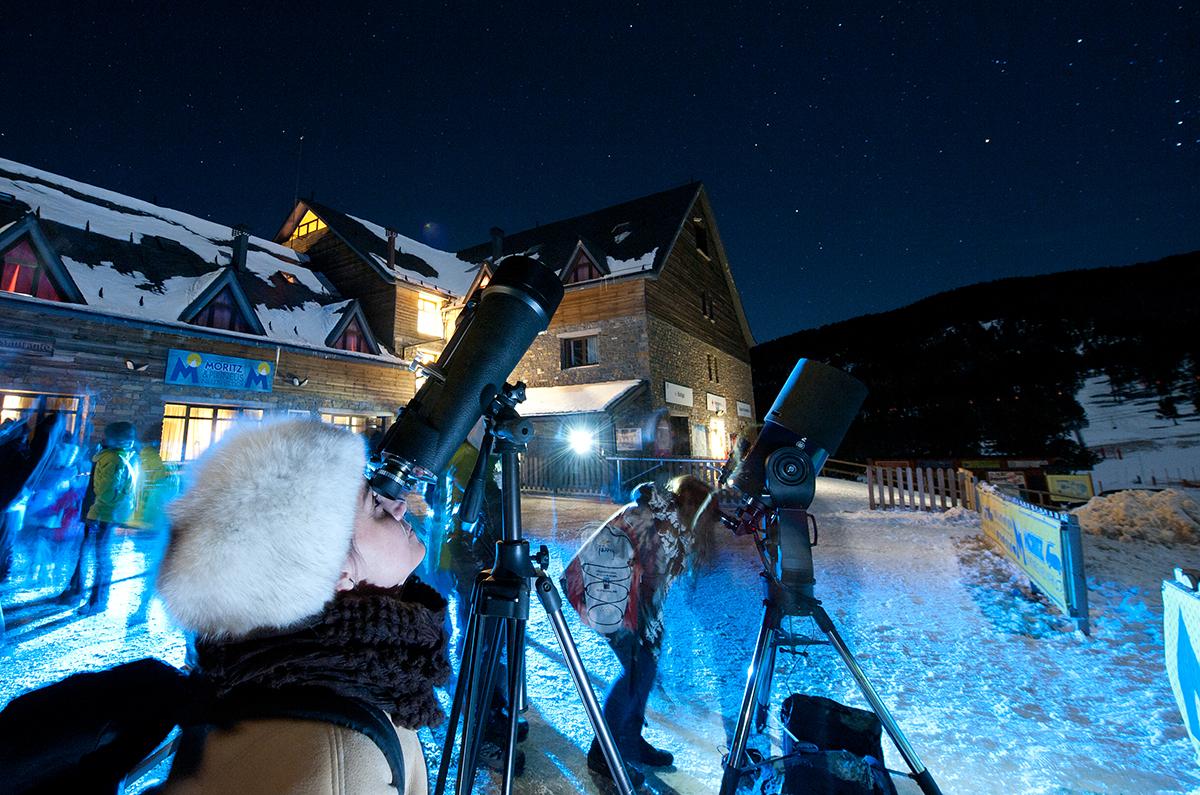 Atelier d'observacion des étoiles au Port Ainé