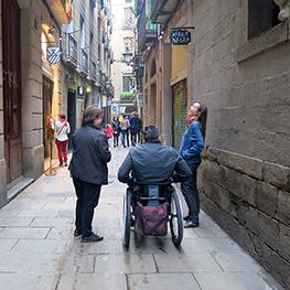 Nouvelle Route sans barrière au Quartier Gothique de Barcelone