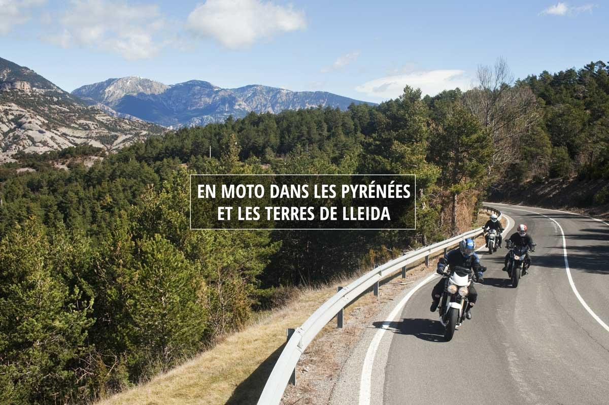 En moto dans les pyrénées et les terres de Lleida