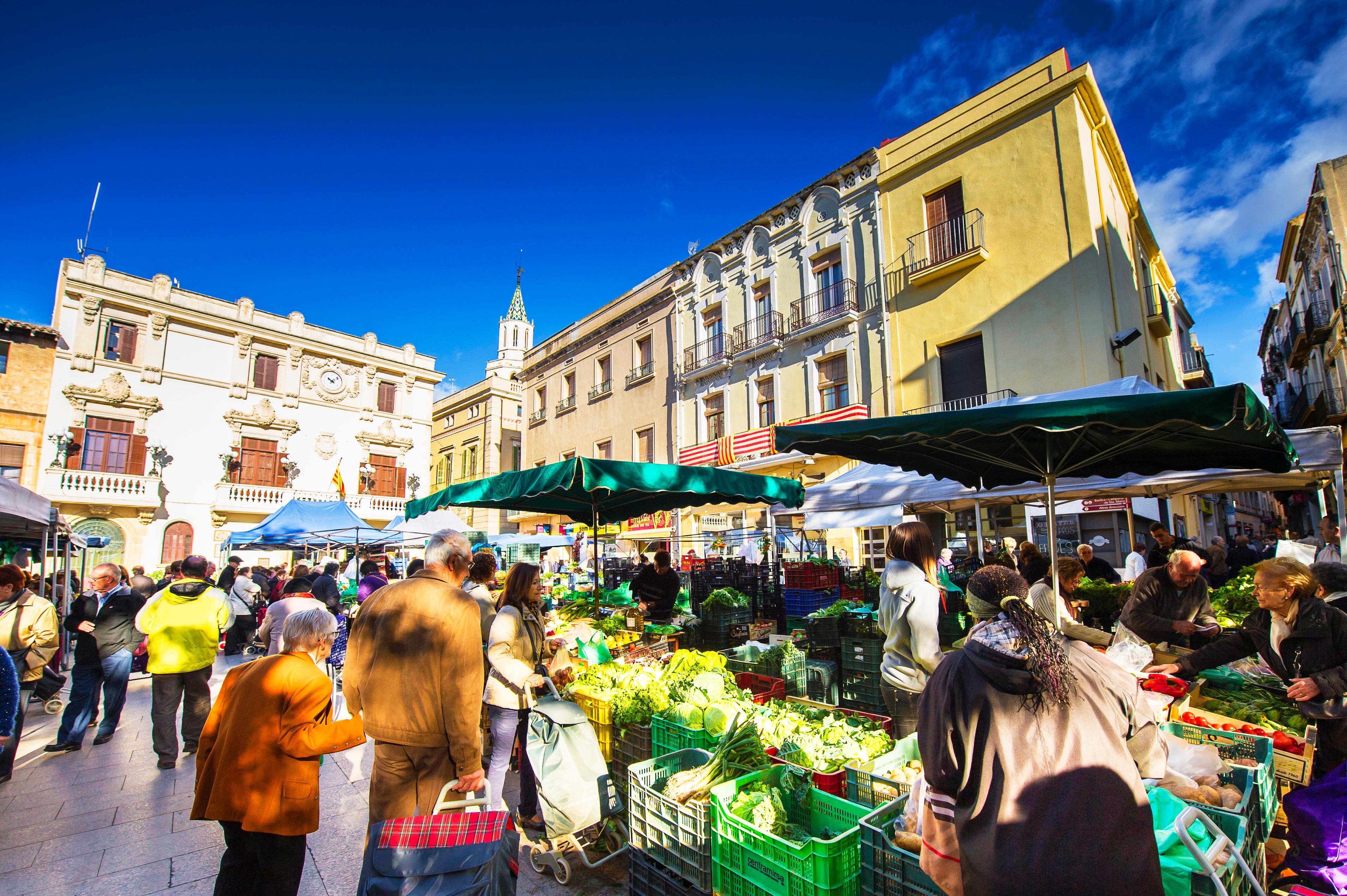 Marché du samedi © Servei Promoció Turística - Ajuntament de Vilafranca del Penedès