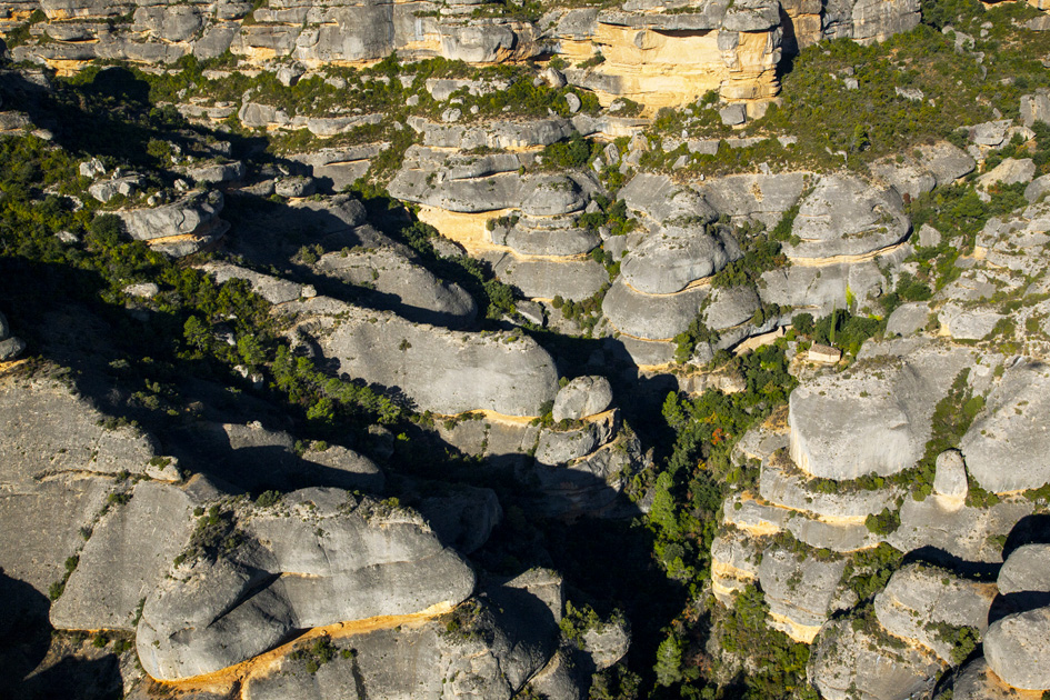 La Serra de Montsant © Yann Arthus-Bertrand / Extrait du livre La Catalogne vue du ciel. Edition Planeta