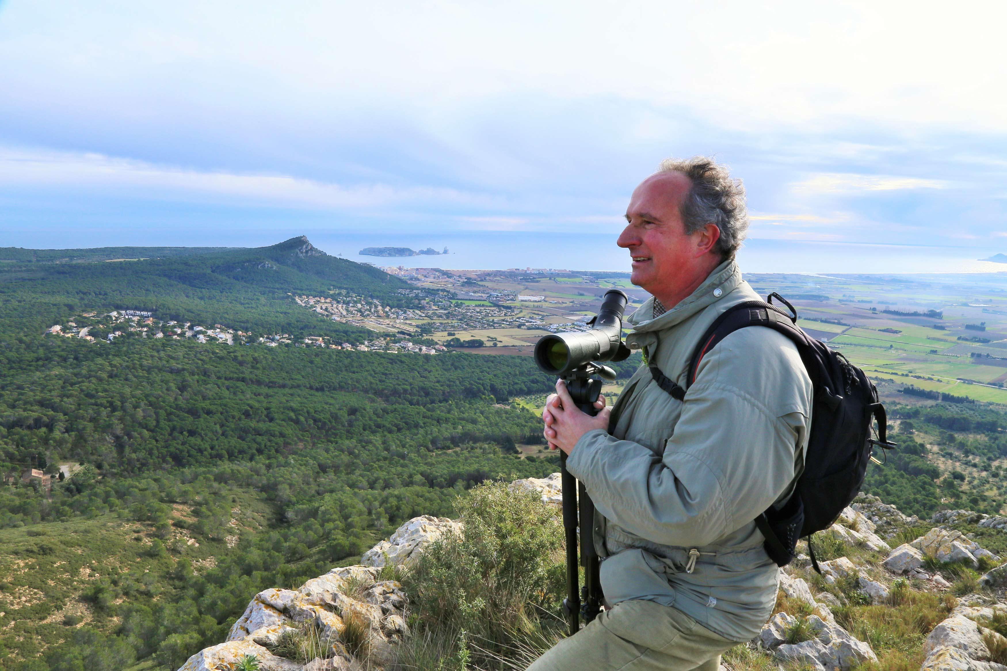 Jordi Sargatal al Montgrí amb les Medes © Foto Jordi Ruiz Olmo