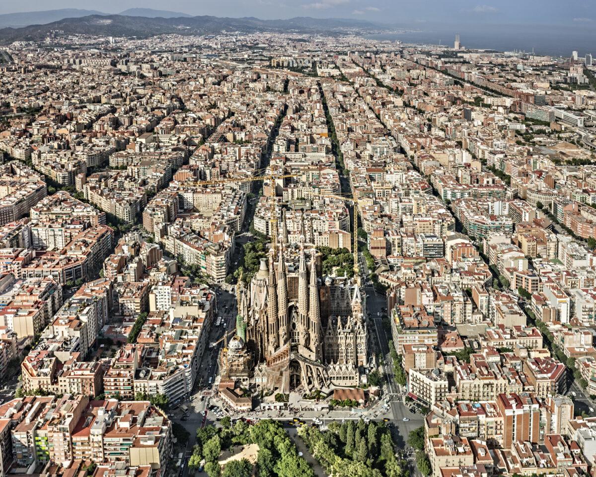 foto aèria Basílica de la Sagrada Família © Pep Daudé