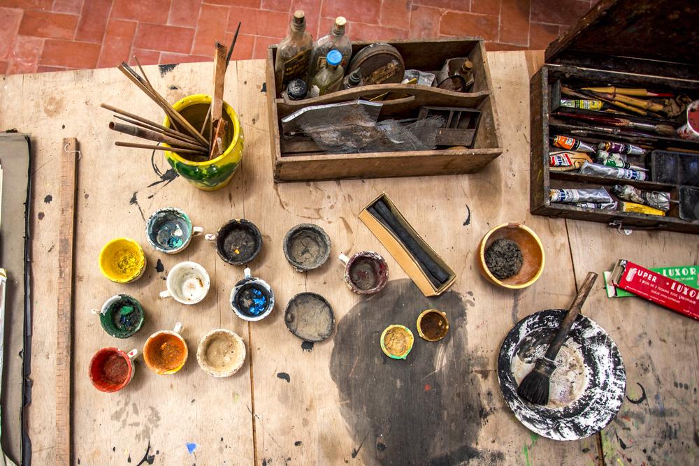 Détail de l'atelier de Joan Miró