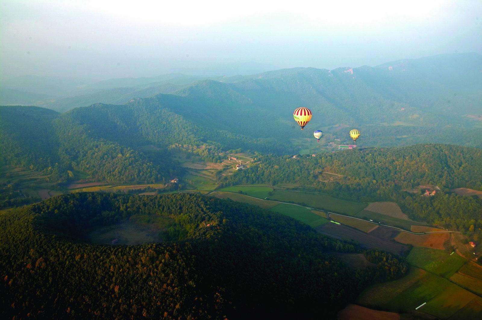 Montgolfières au dessus d'Olot