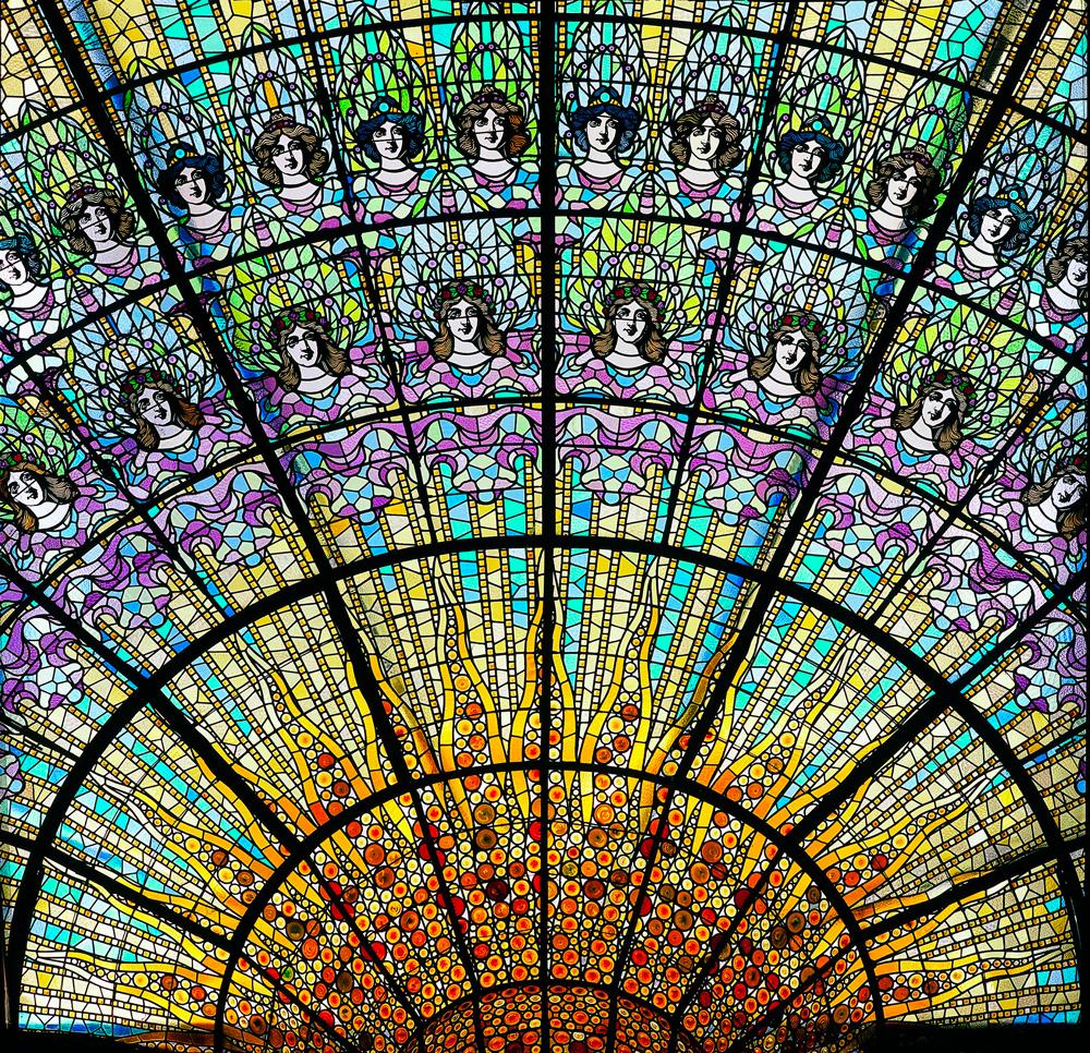Vitraux du Palaise de la Musique catalane