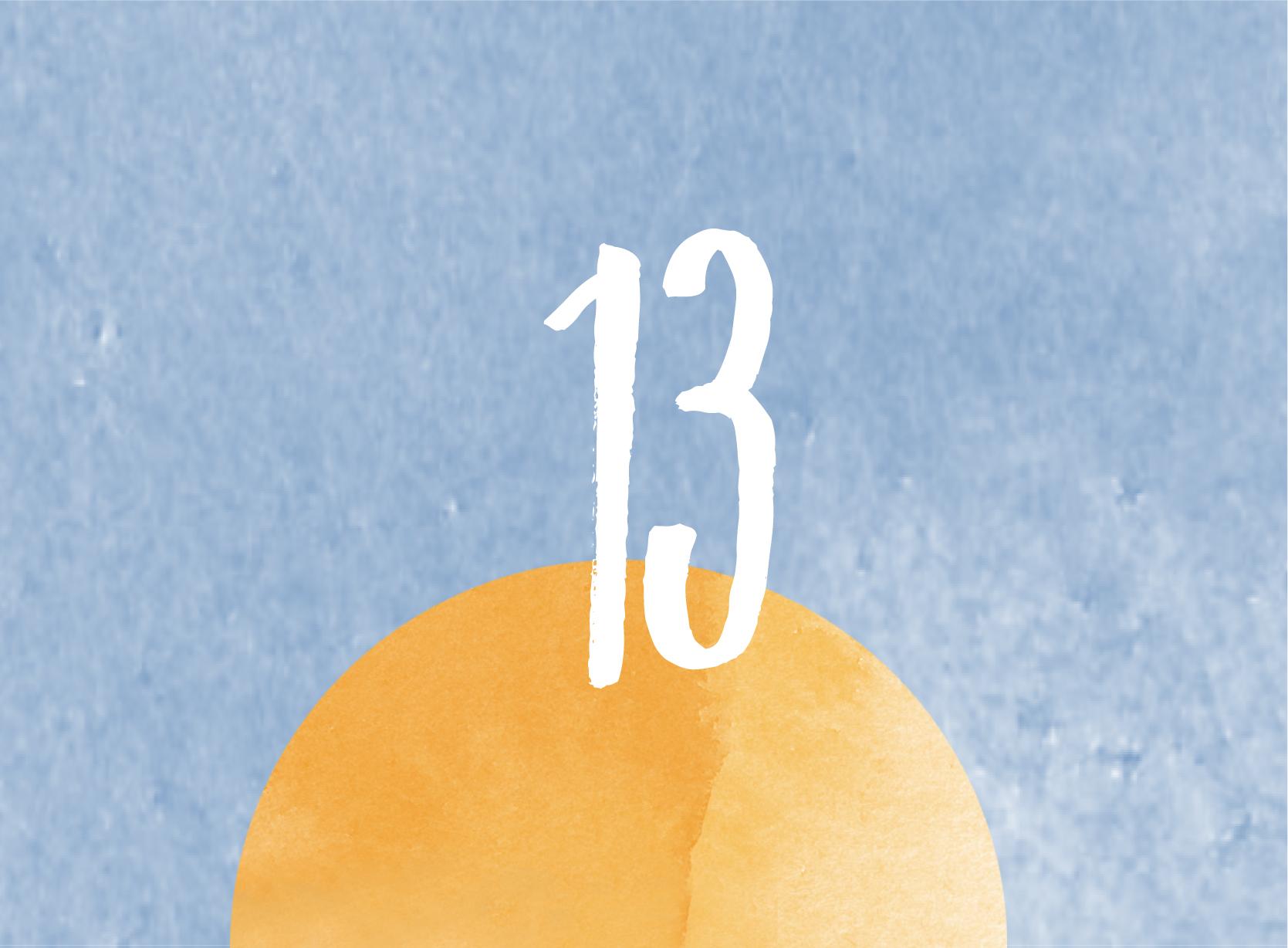 Calendrier de l'avent - 13