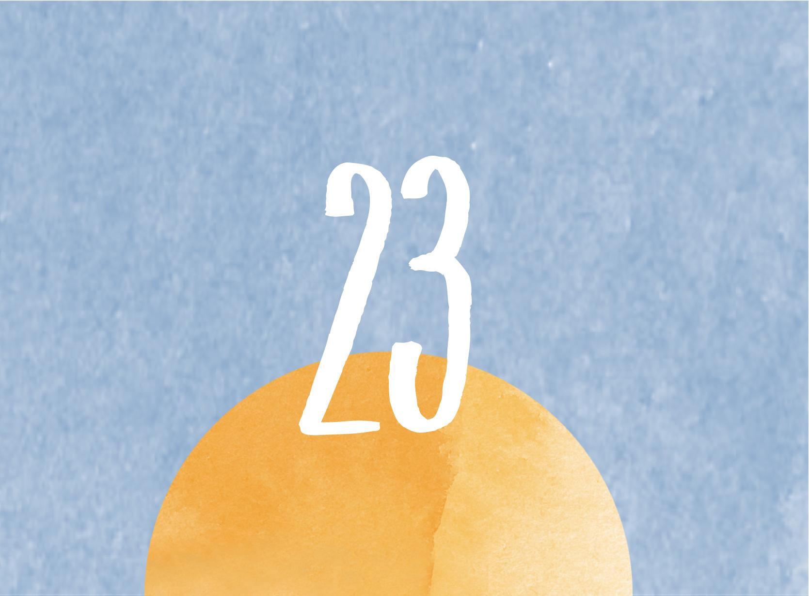 Calendrier de l'avent - 23